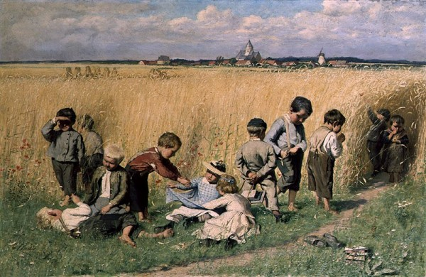 Emile_Claus_-_On_the_way_to_school