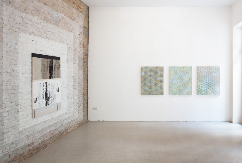 Installation View 3, Left wall painting Alexander Wollf, Right works by Julie Opperman