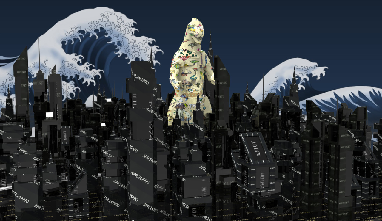 Murakami Godzilla attacks On Kawara Tokyo, 2011