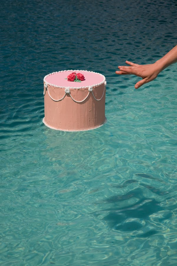 Pink Cake Shadow with Hand 150dpi